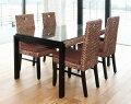 ◆【HAVEN】ヒヤシンスダイニング5点セット◆ダイニングテーブルとチェア4脚のセットです(リビング家具・リゾート家具モダンアジアン・バリ風・オリエンタル)【送料区分「D」】
