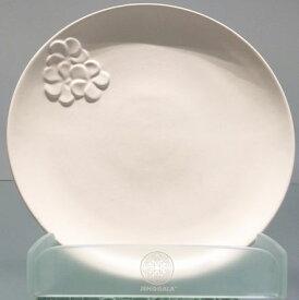 【Jenggala・ジェンガラ】◆フランジパニ丸皿(ワンポイント)ホワイト直径22cm◆(アジアン食器・洋食器・卓上テーブルアイテム・バリプレミアム)