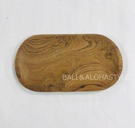 ◆ウッドトレイ 30cm◆(アジアン雑貨・小物置き・トレー・木製)