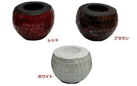 ◆ガラスモザイク キャンドルスタンド◆(ディスプレイ・キャンドルホルダー・バリ雑貨)