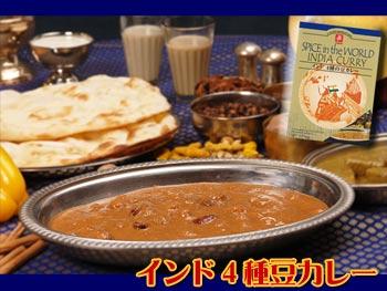 インド4種の豆カレー170g(本格インドカレー)【無添加レトルトカレー・ご当地カレー】化学調味料不使用!