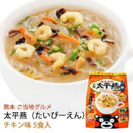 春雨スープ 熊本 ご当地グルメ 太平燕(たいぴーえん) チキン味 5食入×2袋セット くまモン マグカップサイズ イケダ食品