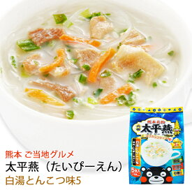 春雨スープ 熊本 ご当地グルメ 太平燕(たいぴーえん) 白湯とんこつ味 5食入×2袋セット くまモン マグカップサイズ イケダ食品