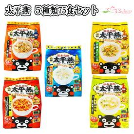 送料無料 春雨スープ 熊本 ご当地グルメ 太平燕(たいぴーえん)5種類75食セット くまモン マグカップサイズ イケダ食品