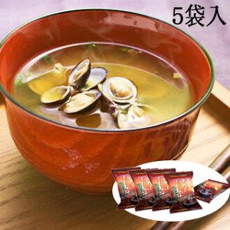 岛根县真嗣湖红味噌蛤蜊汤 (5 袋)