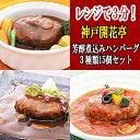 レトルト ハンバーグ 神戸開花亭 芳醇煮込みハンバーグ 3種類15個セット