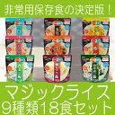 サタケマジックライス アルファ米 非常食 9種類18食セット 長期保存