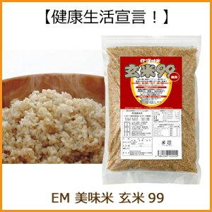 EM 2019年産 美味米 玄米99(無洗米 1kg)愛知県産【P27Mar15】