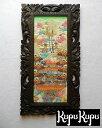 バリの絵 風景画 L-9 ヤングアーティスト 山とライステラス パステルカラー W33.5×H63.5 【ペインティング ア…
