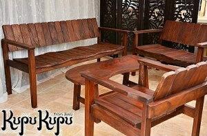 【クーポン配布中!】ガーデン テーブルセット アンティーク風 4点セット チェア テーブル ダークブラウン ガーデン 3人掛け 2人掛け 無垢 ベンチ ローテーブル アジアン家具