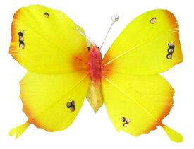 クプクプ(チョウチョ)マグネット8cm 黄×オレンジ【バリ・アジアン雑貨バリパラダイス】