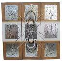 抽象画3枚セット 茶×白 90*30×3枚 【バリ・アジアン雑貨バリパラダイス】