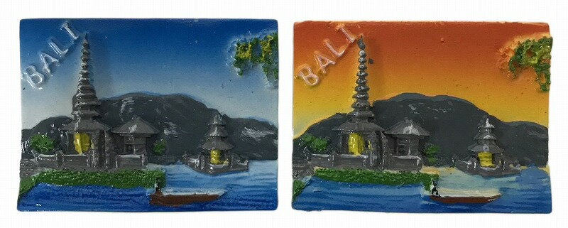 BALI OLEH OLEH(バリ土産) マグネット 横型ブラタン【バリ・アジアン雑貨バリパラダイス】