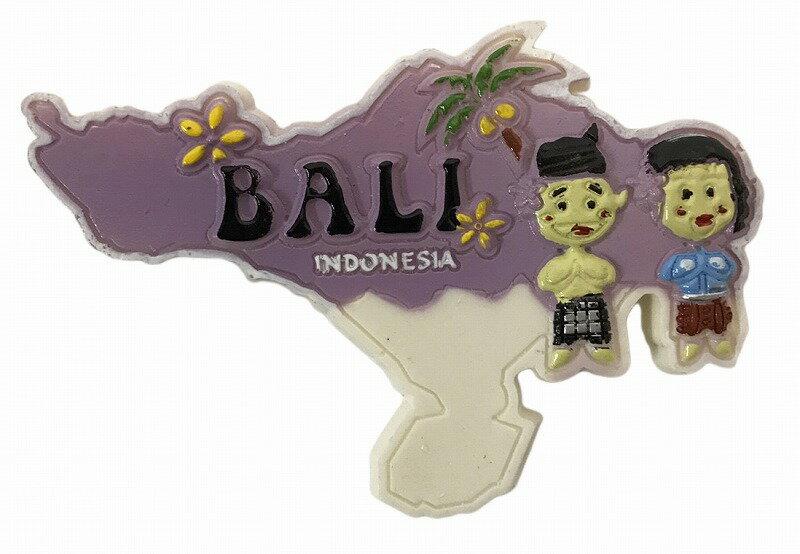 BALI OLEH OLEH(バリ土産) マグネット バリ地図バリニーズ【バリ・アジアン雑貨バリパラダイス】