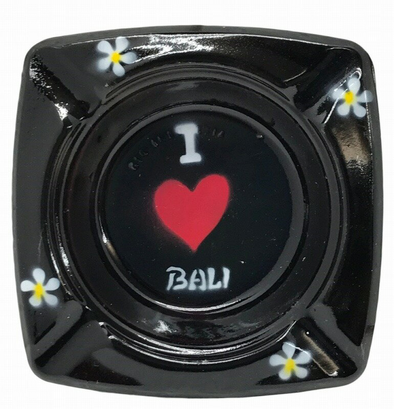 I LOVE BALI フランジパニ灰皿 四角【バリ・アジアン雑貨バリパラダイス】