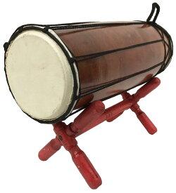 【アウトレット】ジャンベ(太鼓)40cm台付き横型【バリ・アジアン雑貨バリパラダイス】