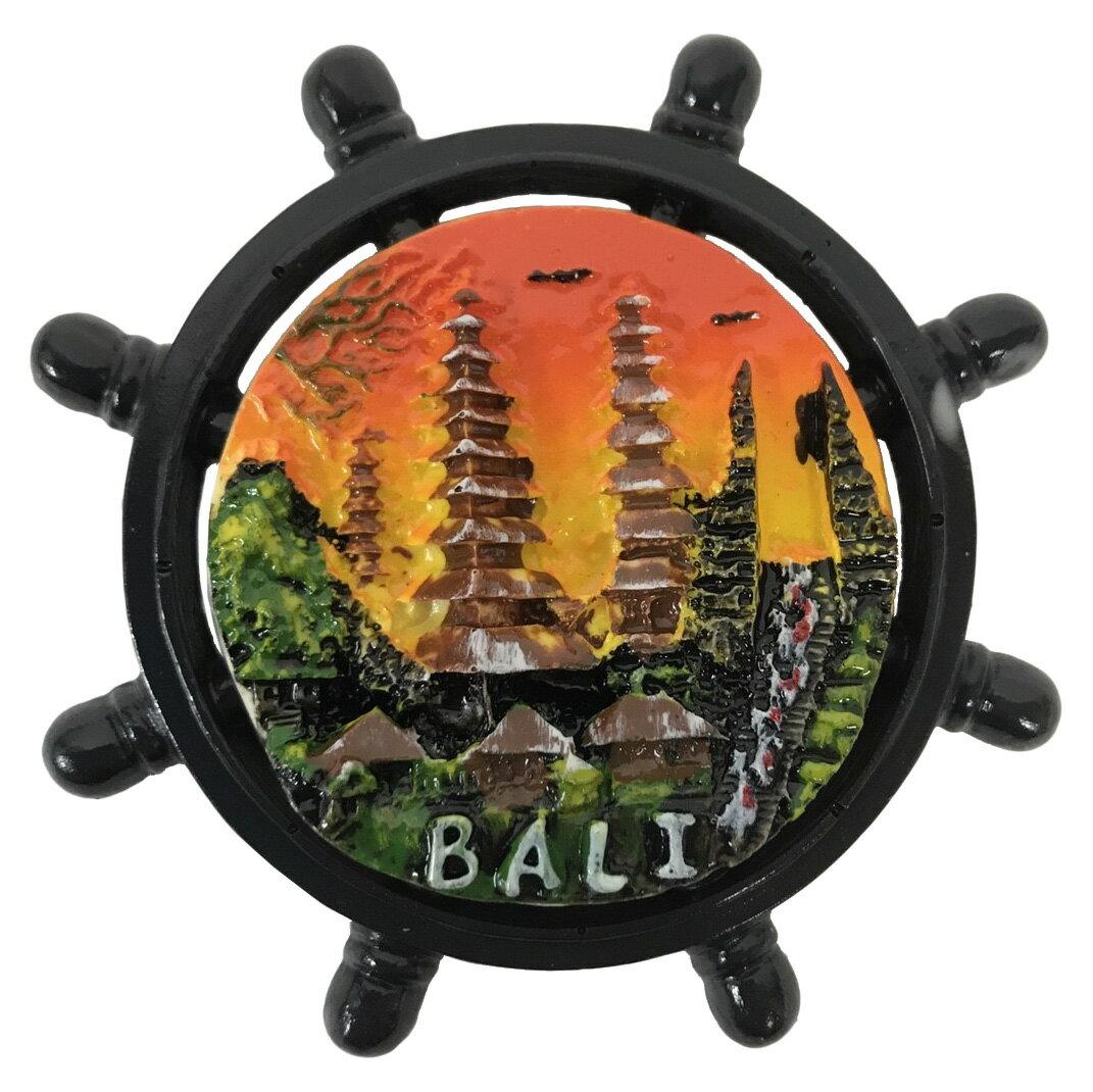 BALI OLEH OLEH(バリ土産) マグネットイカリ タマンアユン オレンジ背景【バリ・アジアン雑貨バリパラダイス】