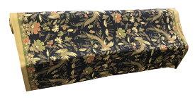 バティック生地(測り売り)ポリエステルブラック系緑 118cm幅【バリ・アジアン雑貨バリパラダイス】