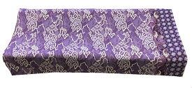 バティック生地(測り売り)コットンプリント 紫系雲柄 115cm幅【バリ・アジアン雑貨バリパラダイス】