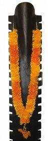 石像用デコレーション ロング首飾り オレンジ&黄【バリ・アジアン雑貨バリパラダイス】