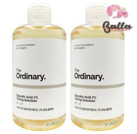 2コセット【THE ORDINARY】ジオーディナリー グリコール酸 7% トーニング ソリューション 240mlx2本 ピーリング 角質ケア 保湿 美容液【楽天海外直送】