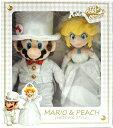 ■ぬいぐるみ電報■(電報)結婚式 マリオ&ピーチのウェディング♪ ぬいぐるみ ウェルカムドールにも♪ 入籍祝い