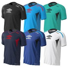 【アンブロ】 PRO-TR パフォーマンス S/S シャツ サッカー フットサル トレーニングウェア Tシャツ メンズ ブラック ブルー グリーン ネイビー ホワイト 【umbro2019SS】 UUUNJA50