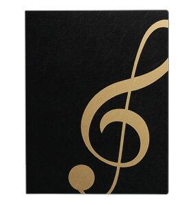 楽譜ファイル/ト音記号ブラックゴールドMUSIC LESSON FILE ミュージックレッスンファイル
