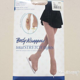 09eef68d96142 【Body Wrappers ボディラッパーズ】C11 子供用スケーティングタイツ ジャジータン色(