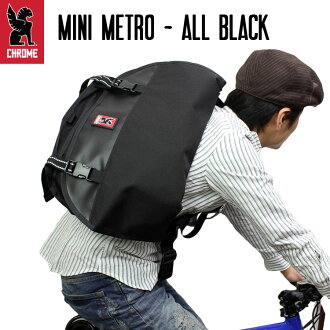 ALL BLACK / CHROME (chrome) and Mini Metro / Messenger bag / shoulder bag