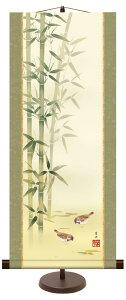 掛け軸 絵画 掛軸 飾る フレーム 額縁 モダン おしゃれ 床の間 和 リビング 花鳥画 年中飾り 根本葉舟「竹に雀」 <送料無料> 手彩 インテリア アート 日本画 人物 巨匠 複製画 お祝い 引越