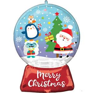 クリスマス スノーグローブ ヘリウムなし風船 バルーン 誕生日 パーティー 結婚式 プレゼント 開店祝い 飾りかわいい おしゃれ ふうせん キャラクター バースデー プレゼント ヘリウムガス