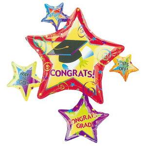 コングラッツグランドスタークラスター ヘリウムガス入風船 バルーン 誕生日 パーティー 結婚式 プレゼント 開店祝い 飾りかわいい おしゃれ ふうせん キャラクター バースデー プレゼント