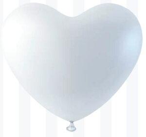 10インチハート風船 White(ホワイト)【50個入】(天然ゴム100%)風船 バルーン 誕生日 パーティー 結婚式 プレゼント 開店祝い クリスマス 飾りかわいい おしゃれ ふうせん キャラクター バース