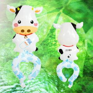 ミルク大好きモウちゃん(空気専用)1枚風船 バルーン 誕生日 パーティー 結婚式 プレゼント 開店祝い 飾りかわいい おしゃれ ふうせん キャラクター バースデー プレゼント ヘリウムガス ギ