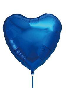 アイブレックス14インチハート メタリックブルー ヘリウムなし風船 バルーン 誕生日 パーティー 結婚式 プレゼント 開店祝い 飾りかわいい おしゃれ ふうせん キャラクター バースデー プレ