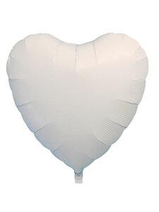 アイブレックス14インチハート ホワイト ヘリウムなし風船 バルーン 誕生日 パーティー 結婚式 プレゼント 開店祝い 飾りかわいい おしゃれ ふうせん キャラクター バースデー プレゼント