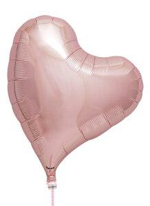 アイブレックス スウィートハート メタリックライトピンク ヘリウムガスなし風船 バルーン 誕生日 パーティー 結婚式 プレゼント 開店祝い 飾りかわいい おしゃれ ふうせん キャラクター