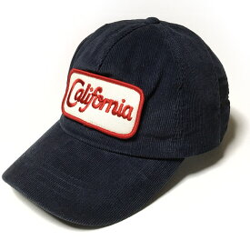 コーデュロイ California ワッペン ベースボールキャップ (ネイビー) - PENNANT BANNERS ペナントバナーズ - pb058-ny -R完- カリフォルニア CAP 帽子 ぼうし 紺系 アメリカン アメカジ ストリート かっこいい 男女兼用 セレクトショップ【RCP】