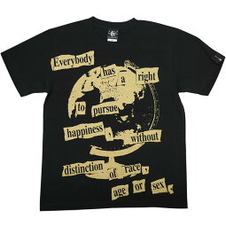 Happiness(ハピネス)Tシャツ(ブラック)hw004tee-bk-Z△-半袖黒色地球儀パンクロックTシャツバンドグラフィックかっこいいストリートアメカジカジュアルメンズレディースユニセックス大きいサイズコットン綿100%オリジナルブランド【RCP】