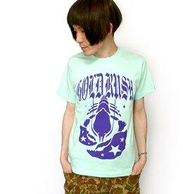 GOLD RUSH(ゴールドラッシュ)Tシャツ (メロン) sp009teee-Z完- 半袖 グラフィック ロックTシャツ メンズ レディース ユニセックス かわいい 可愛い カジュアル オリジナル プリント グリーン 緑色 大きいサイズ コットン綿100% 【RCP】