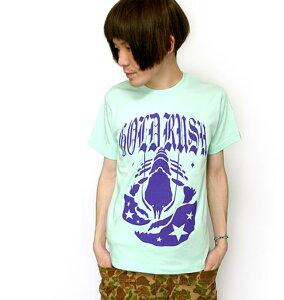 GOLD RUSH(ゴールドラッシュ)Tシャツ (メロン) sp009teee-Z完- 半袖 グラフィック ロックTシャツ メンズ レディース ユニセックス かわいい 可愛い カジュアル オリジナル プリント グリーン 緑色