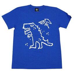 ティラノTシャツ(ロイヤルブルー)sp052tee-rb-Z完-半袖青色恐竜ティラノザウルスキャラかわいいおしゃれらくがきイラストバックプリントカジュアルアメカジメンズレディース男女兼用ブランド大きいサイズコットン綿100%【RCP】