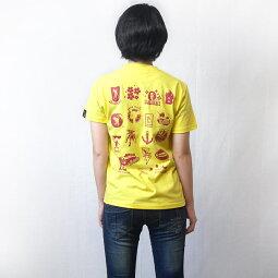 カバTシャツ(イエロー)sp053tee-ye-Z完-半袖黄色かば河馬動物アニマルイラスト落書きかわいいおしゃれアメカジカジュアルバックプリントメンズレディースユニセックスブランド大きいサイズコットン綿100%Tシャツ屋さんバンビ【RCP】