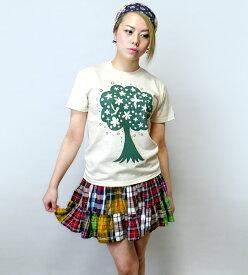 happy tree ( ハッピー ツリー ) Tシャツ -なかひらまい mn007te-Z完- 半袖 コラボtee 幸せの木 自然 樹 癒し イラスト カジュアル かわいい おしゃれ メンズ レディース ユニセックス 大きいサイズ ナチュラル ブルー 綿100% Tシャツ屋さんバンビ【RCP】