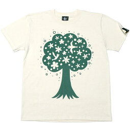 happytree(ハッピーツリー)Tシャツ-なかひらまいmn007te-Z完-半袖コラボtee幸せの木自然樹癒しカジュアルかわいいデザインメンズレディースユニセックスペア大きいサイズナチュラルブルー青春夏秋服コーデTシャツ屋さんバンビ【RCP】