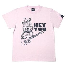 デロデロプリン Tシャツ -タケヤマ・ノリヤ nr005tee-Z完- 半袖 メルヘン キャラ かわいいイラスト おしゃれ ギター ロックtシャツ バンドtシャツ コラボ アメカジ メンズ レディース 大きいサイズ ホワイト ピンク 白桃色 コットン綿100%【RCP】