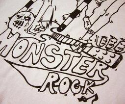 MONSTERROCKTシャツ-BPGTバンビプラネットグラフィックTシャツ-sp025tee-S-パンクロックオリジナルロックTシャツギター怪獣モンスターイラスト半袖メンズレディースユニセックス大きめサイズあり【RCP】