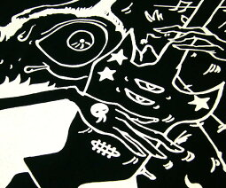 MELODYMONSTERTシャツ【BPGT-バンビプラネットグラフィックTシャツ】sp026-S-ROCKロックロックT怪獣PUNKパンクパンクTオリジナルT半袖ギターTシャツメンズレディースユニセックス