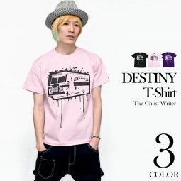 DESTINY(ディスティニー)Tシャツ-TheGhostWriter-tgw003tee-G-パンクロックロックTシャツパンクファッションかっこいいオリジナル半袖メンズレディースユニセックスブラックピンク黒桃大きいサイズ【RCP】